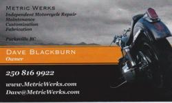 Hi, I am an independent motorcycle mechanic in the Parksville/Nanaimo area with over 20 years experience specializing in metric (Japanese and European) bikes. Cruisers, dirt-bikes, quads, touring, sport bikes and scooters. Everything from oil changes,