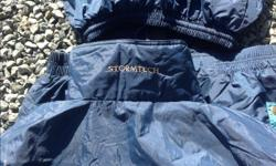 STORM TECH RAIN SUIT 2 Piece NEVER Used kept for emergency, SZ medium VERY GOOD CONDITION with Sack