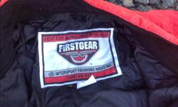 FIRST GEAR 1 piece RAIN SUIT Never Used Built in sack SZ Small Excelent Condition Kept for Emergencys
