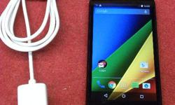 Motorola Moto G smartphone for the Rogers network, model XT1040, item #142328-1. Includes charger. Price of $150 includes all taxes. PLEASE REFER TO INVENTORY #142328-1 WHEN INQUIRING. We also have more items for sale at The Bay Street Broker located on