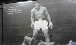 Muhammad Ali vs Sonny Listion framed print