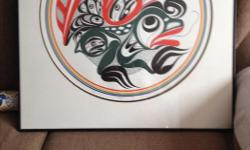 """Named """"Untitled"""" painting done by the Late Art Thompson, 30""""w x 31""""H in professionally made frames, located in Port Alberni, can meet anywhere on Island for serious buyers. This is numbered """"1"""" of """"1/75"""" prints."""