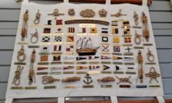 Large selection of Nautical Paintings , Prints , Sculptures and Collectibles. International Code of Signals and Knot board mounted on canvas Sailboats Harbour views with boats Nautical flag commemorating 100 year centennial of the naval force in Canada