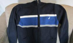 Navy nautical zip up sweater. Great condition. Size 4