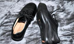 Black oxfords. Cushy insoles. Extremely comfy, but too big for me. Size 8.5 Lightly worn. I bought these on CL and never wore them because I got them home and found they were just too big. I paid $35 to the nice lady.