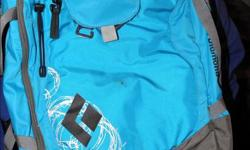 Turquoise 'Black Diamond' Back pack has an Ava-lung and the back pack is sized M/L. This has never been used. $150.