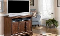 """Brand New Hamlyn Media Stand on Sale for 399 Discontinued Clearance, Only 1 Left Regular $579 42.06"""" W x 20"""" D x 32"""" H Like Us on Facebook... Come in and Check it out at: Next Home Furnishings 4422 Wellington Rd Nanaimo 250 758-6610 Open Everyday 100%"""