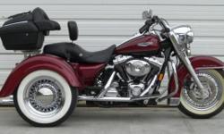Trike Conversion for Harley Davidson Tour Models FLT, FLH Electra Glide, Road Glide, Ultra Classic & Roadking Base Kit Cost US$7950 For Models 1980 through 2007 2008 & UP
