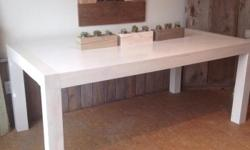 NEW Solid Fir Urban Chic White Washed Okanagan Harvest Table $1550 Measures: 72x40x30 Features: Solid Okanagan reclaimed Fir, white washed for a modern rustic urban finish, full floating top, hand built right here in Kelowna, seats 6 adults very