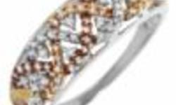 14K Three tone Gold- Ring . Not Plated.With Genuine Diamonds. New. Never worn. With the price of gold today, this is an excellent Buy. Retails for $400.00 + taxes 2009 gold prices Size 9 asking $150.00 604-217-3388