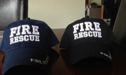 Brand new Fire Rescue ball hats (tags still on), one blue and one black. One size fits all. Selling off products left over from our company that we recently closed. Interested in a bulk deal? Contact us for details.