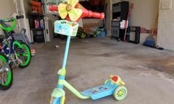 Nice music scooter...Originally bought for $37.00. Kids grown up ... no need now.