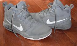 Grey Nike Air Max high top runners. $80 new, worn a dozen times. Great shape.