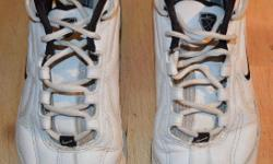 These shoes have been moderately used, but have been well cared for. The soft cleats have minimal wear.