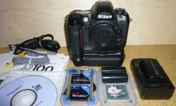 Nikon D100, with 4612 shots under it's belt - D100's have an estimated shutter lifespan of easily 150,000 shots (some users reporting well in excess of 250,000!) - this is after all an entry level professional camera - so many more years of photography