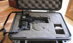 Immaculate Nikon AF camera with 70-210mm lens and Pelican case.