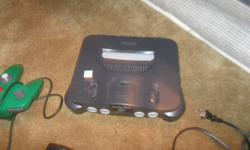 hello ever one i have for sale is a nintendo 64 in good working condition i payed $34.99 for just the nintendo 64 and payed $25.00 for one controller and i have two one is gray and one is green and i payed $15.00 for one game and i have four they are tony
