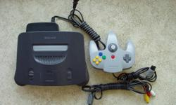 ** Nintendo 64 black Console With Controller.. ** Product Description from the net. ** The Nintendo 64 was designed as a party machine, with four controller ports just begging to be filled. Bag up to three friends and experience how already astounding
