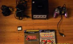 I have a gamecube with one controller, memory card, cords and 6 games for sale
