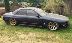 Make Nissan Year 1991 Colour Blue Trans Manual Not running, you need to build a wiring harness for the Microtech Standalone! Needs finishing, little ods and ends, just not really into fixing it and loosing got my license again. R32 4 Door Full coilovers,