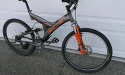Norco XCS Mens size large. Approximately 10 years old. Still rides great. Great for a fist XC bike.