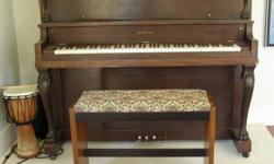 Nordheimer piano with bench. Great condition.