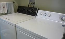 THIS HEAVY DUTY WASHER HAS A 20 LB CAPACITY LOTS OF ROOM FOR LARGE LOADS. UNFORTUNATELY I HAVE TO SELL IT AS THE PLACE WE ARE MOVING TO HAS ONLY A STACKING WASHER ETC. THIS HAS BEEN A VERY, VERY RELIABLE MACHINE. WE NEED TO CONTINUE TO USE THIS TILL THE