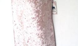 """new with tag, retail US$99 plus tax, P.J.Salvage Crushin It Stretchy Velvet Nightie Chemise, 6"""" side slit, lace trim at front neck, and adjustable bra straps. (37"""" length) Color blush pink, size X-Large"""