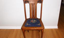 Beautiful old oak chair, some damage to one leg(repairable).