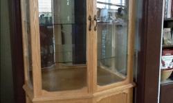 """Mirrored back, glass shelves 15"""" deep 36"""" wide 72"""" high"""