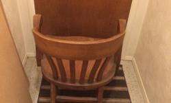oak office chair needs refinishing but a very solid chair