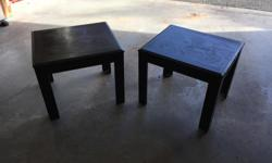$25 OBO for both! Black wooden end tables. Must go