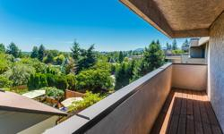 # Bath 1 Sq Ft 690 MLS 413049 # Bed 1 Bright 1 bedroom 1 bathroom Penthouse unit in Central Nanaimo with ocean views from the large private patio and wrap around deck where you can see downtown Nanaimo. From the moment you step inside you will see this
