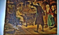 An Oil Painting on Canvass by Margaret Isabel Dicksee 1893 depicting George Frederick Handel in his early years as the musician.  Measures 3 feet X 4 Feet wide.   Telephone 250 763 3080