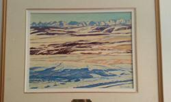 "Oil painting by well known Alberta artist William Duma entitled From The Road(Alberta foothills and mountain scene)1989,12"" X 16"" in 24"" x 20"" frame,excellent condition,$1100. 604 720-1867"