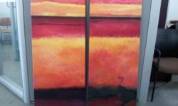 """Original oil paintings, large 20"""" x 50"""" are $75 each, small 20"""" x 20"""" are $40 each"""