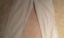 """Old Navy, Broken - in - Khakis Photo shows 31"""" by 30"""" but it is the wrong size They measure waist 34"""" by length 29"""""""
