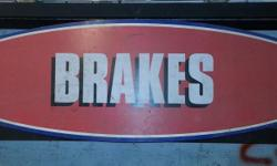 "old sevrice station sign, brakes, its like 70"" long, $40 obo"