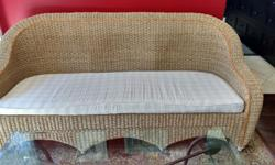"""Indonesian Seagrass Settee- One of a Kind!! Beautifully hand woven with a curved back. Great for a sun room or sitting area. L=80"""" W= 29"""" H=3ft = $250 Loveseat is SOLD."""