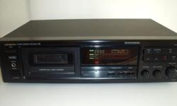 This is a high quality Onkyo deck in perfect working order. Has some minor scratches on top cover. Face is fine. Features include HX-Pro noisy reduction. 2 motor full logic control. Dolby B and C. Bias adjustment for recording. Electronic tape counter and
