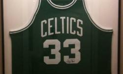 Original Larry Bird signed 1985/86 Jersey in metal/glass frame, mounted.  Paid $1200, asking $ 900 OBO. Excellent Condition.  An amazing Christmas Present for the Basketball, Celtics Sports fan.
