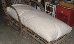 Outdoor Chaise Lounge from La Lune Collection,like new condition. Includes seat cushion. 6 feet long, 37.5 high, 32.5 wide. http://www.lalunecollection.com/rustic-furniture/seating/chaise-1024.html $290 OBO, new $1,200 US. Ladysmith