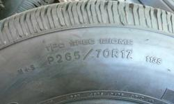 4-P265/70R17, Goodyear Wrangler ST tires. New off 2010 GMC, 54km on them. $600.00 OBO 250 229 4740