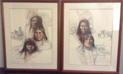 Framed pair for $175 obo - Plains Indian Heritage prints