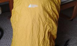 MEC 15 to 25L, 210 denier nylon hiking rain cover. Bought too small and never used.