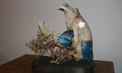 This is a one of a kind painted Bear Skull. It looks great and is quite the conversation piece.
