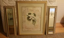 Windsor Decor of Canada Painting. Magnolia. Two side matching mirrors.
