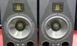 "Pair of Adam Audio A8X powered studio monitors, item #145715-1 and 145715-2. 150 watt 8.5"" subwoofer with 50 watt proprietary Adam ribbon tweeter, suitable for near or mid-field monitoring. FIRM price of $1645 includes all taxes. Please refer to inventory"