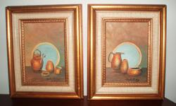 """""""Copper Pots"""", original artwork by local artist Phyllis Shelley. Really cute little paintings. 8.5"""" x 10.5"""" *please view my other ads*"""