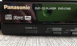 Well looked after CD/DVD player for sale. Panasonic model number DVD CV52. Includes remote and power cable. In excellent condition.
